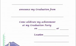 005 Staggering Free Graduation Invitation Template Printable Inspiration  Party Card High School
