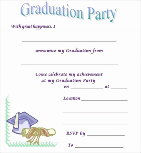 005 Staggering Free Graduation Invitation Template Printable Inspiration  Preschool Party Kindergarten480