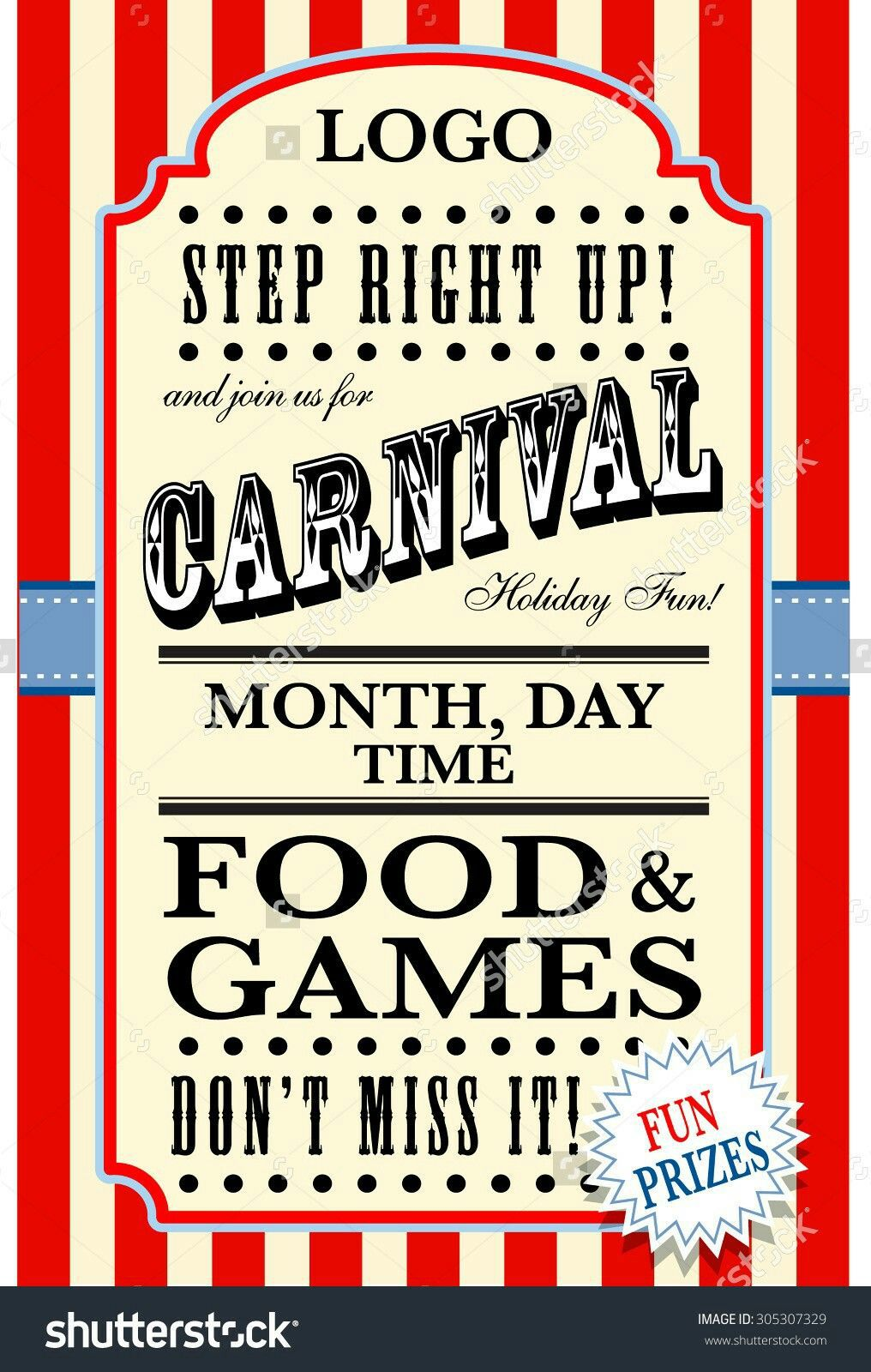 005 Staggering Free School Carnival Flyer Template Photo  Templates DownloadFull