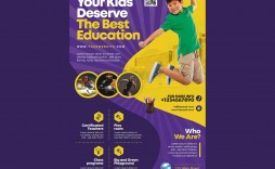 005 Staggering Free School Flyer Template Psd Sample  Brochure Download Back To