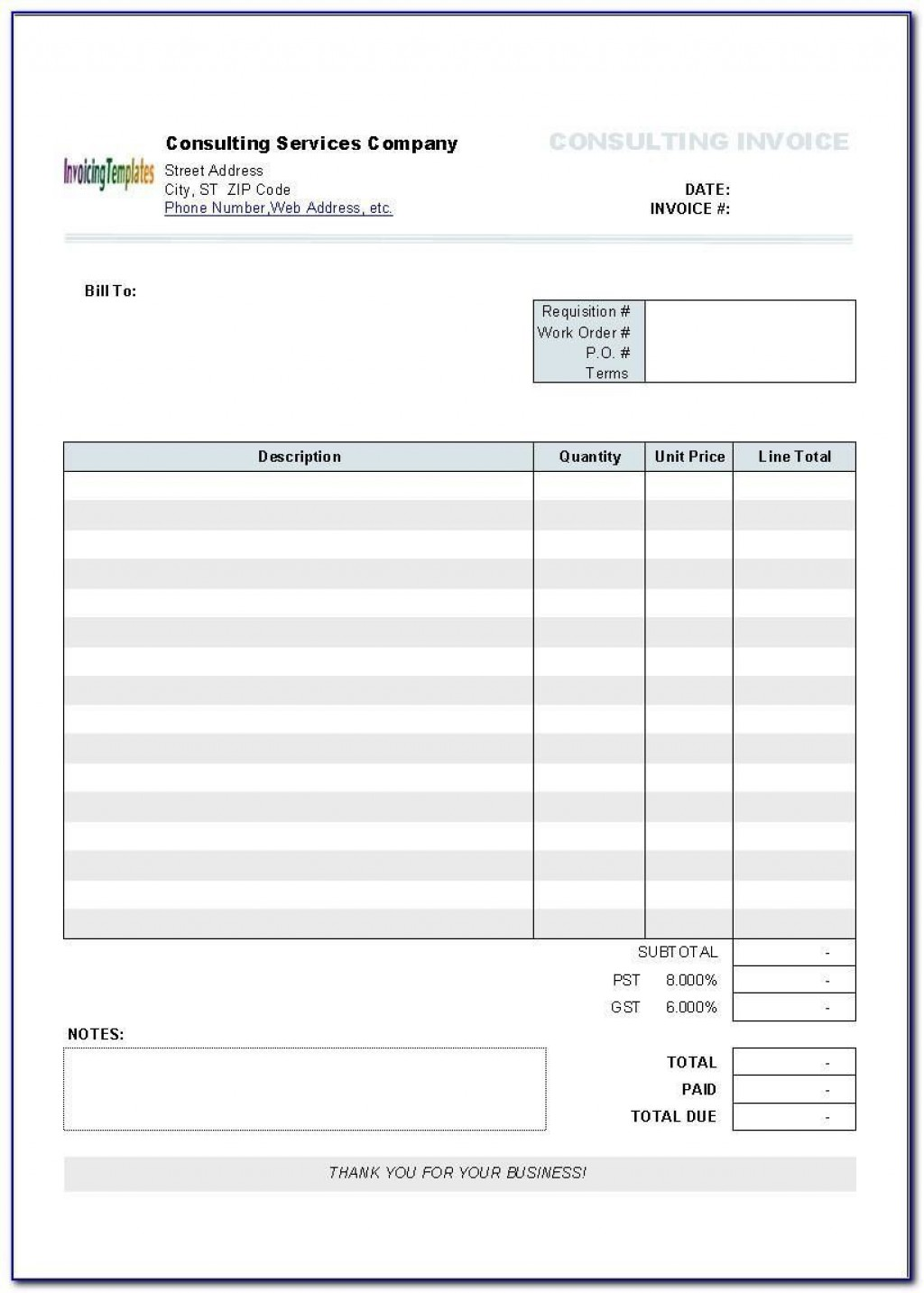 005 Staggering Invoice Template Printable Free Word Doc High Resolution Large