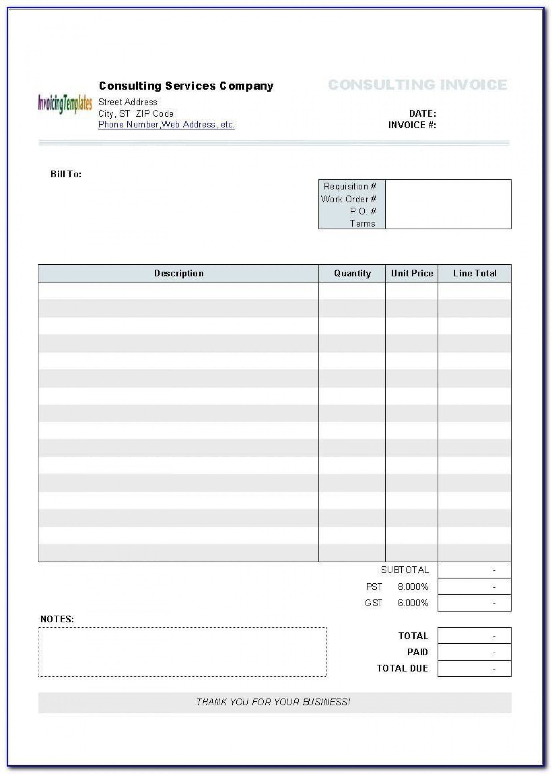 005 Staggering Invoice Template Printable Free Word Doc High Resolution 1920
