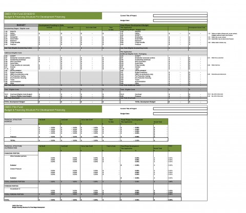 005 Staggering Line Item Budget Template Film Example 480