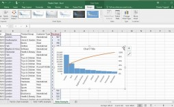 005 Staggering Pareto Chart Excel Template High Def  2016 Download Microsoft Control M