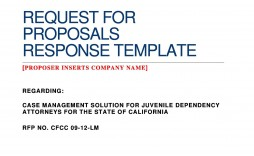 005 Staggering Request For Proposal Template Word Free Example