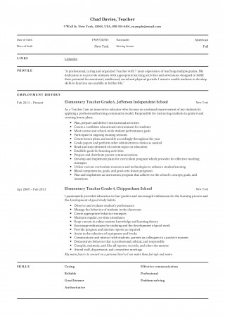 005 Staggering Resume Example For Teaching Job Highest Clarity  Sample Position In College Format320