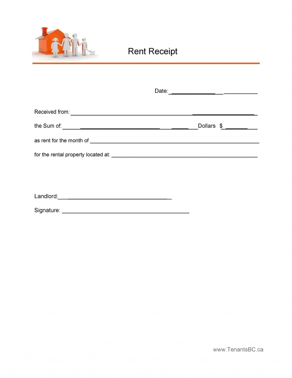 005 Staggering Sample Rent Receipt Word Doc Concept Large