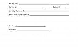 005 Staggering Sample Rent Receipt Word Doc Concept