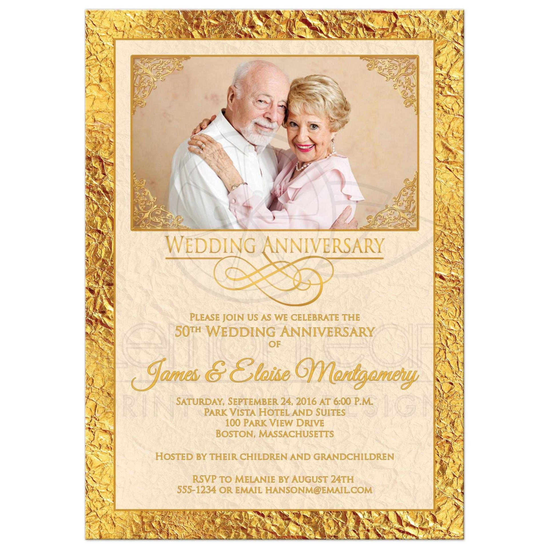 005 Stirring 50th Wedding Anniversary Invitation Card Template Highest Quality  Templates Sample1920