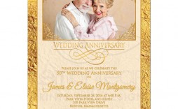 005 Stirring 50th Wedding Anniversary Invitation Card Template Highest Quality  Templates Sample