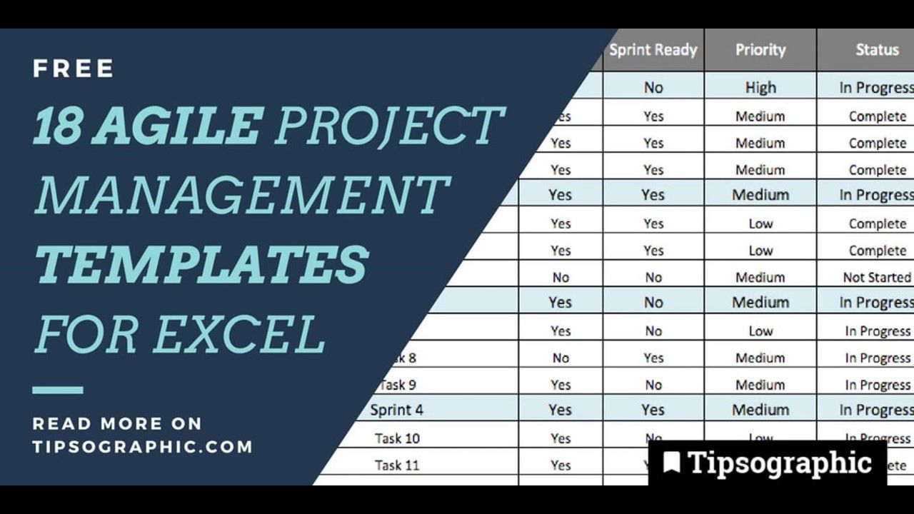 005 Stirring Agile Project Management Template Free Concept  ExcelFull