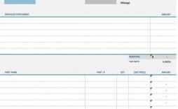005 Stirring Auto Repair Invoice Template Excel Inspiration