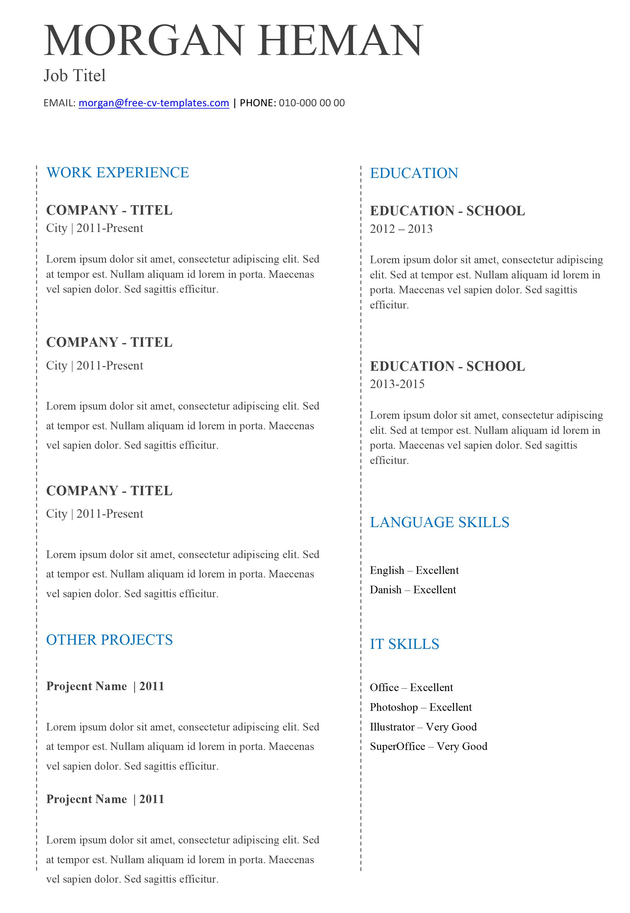 005 Stirring Basic Resume Template Free Highest Clarity  Easy Download Word Australia DocFull