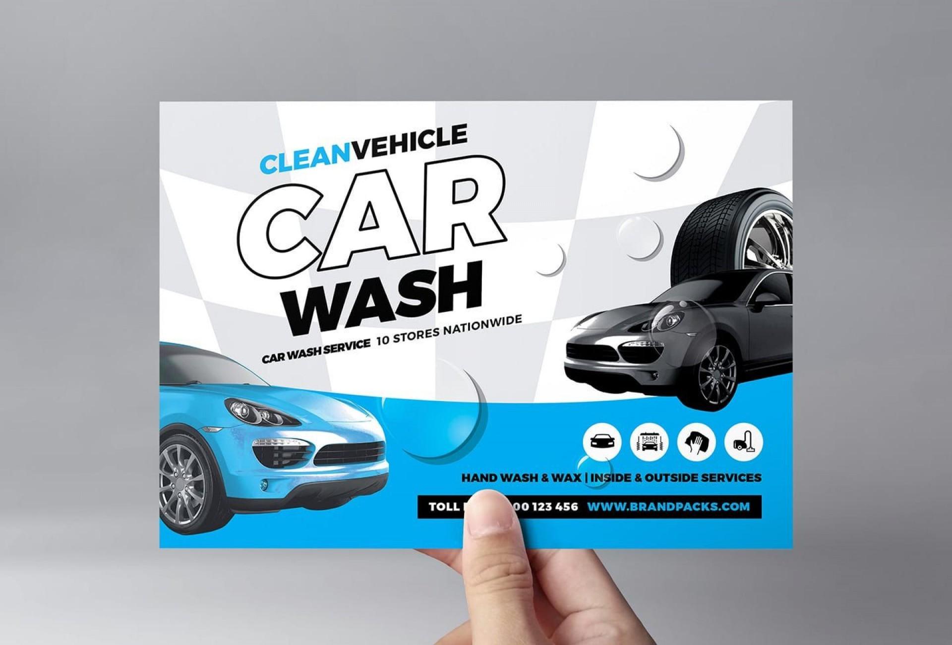 005 Stirring Car Wash Flyer Template Design  Free Fundraiser Download1920