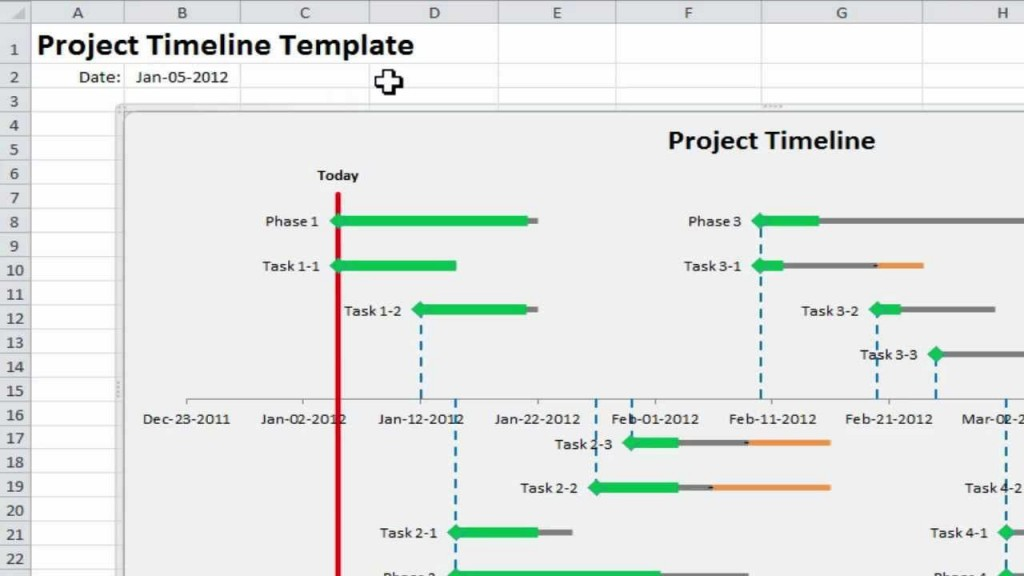 005 Stirring Excel Project Timeline Template Design  2020 Xl TutorialLarge