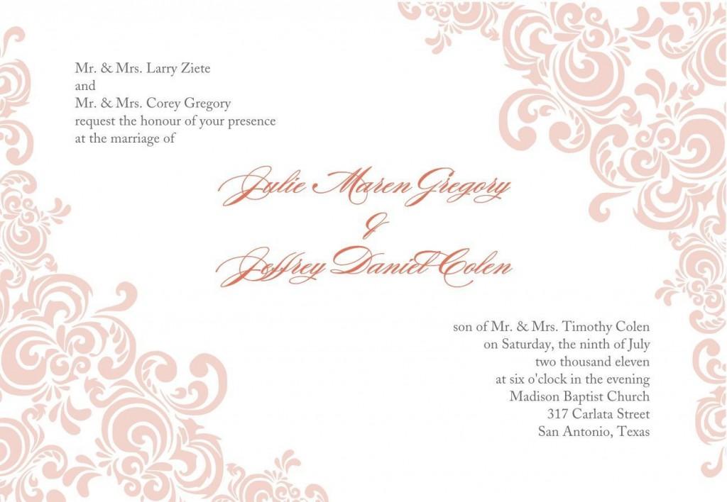 005 Stirring Formal Wedding Invitation Template Free Highest Quality Large