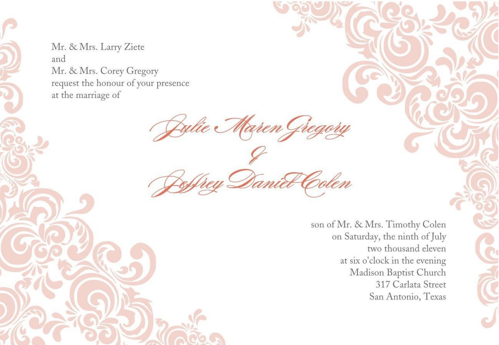 005 Stirring Formal Wedding Invitation Template Free Highest Quality 1920