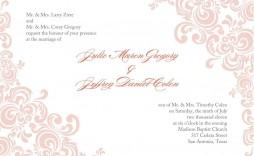 005 Stirring Formal Wedding Invitation Template Free Highest Quality