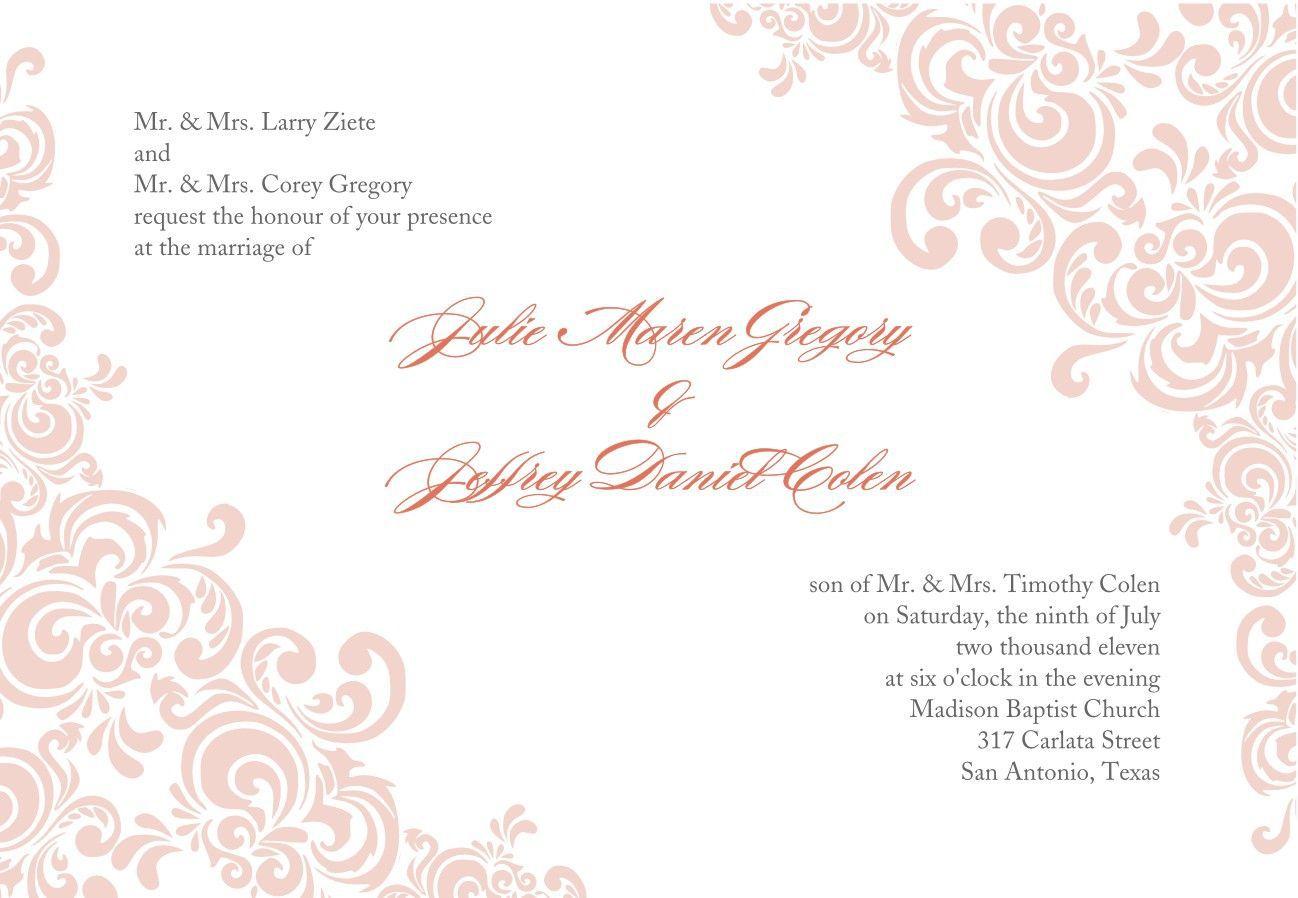 005 Stirring Formal Wedding Invitation Template Free Highest Quality Full
