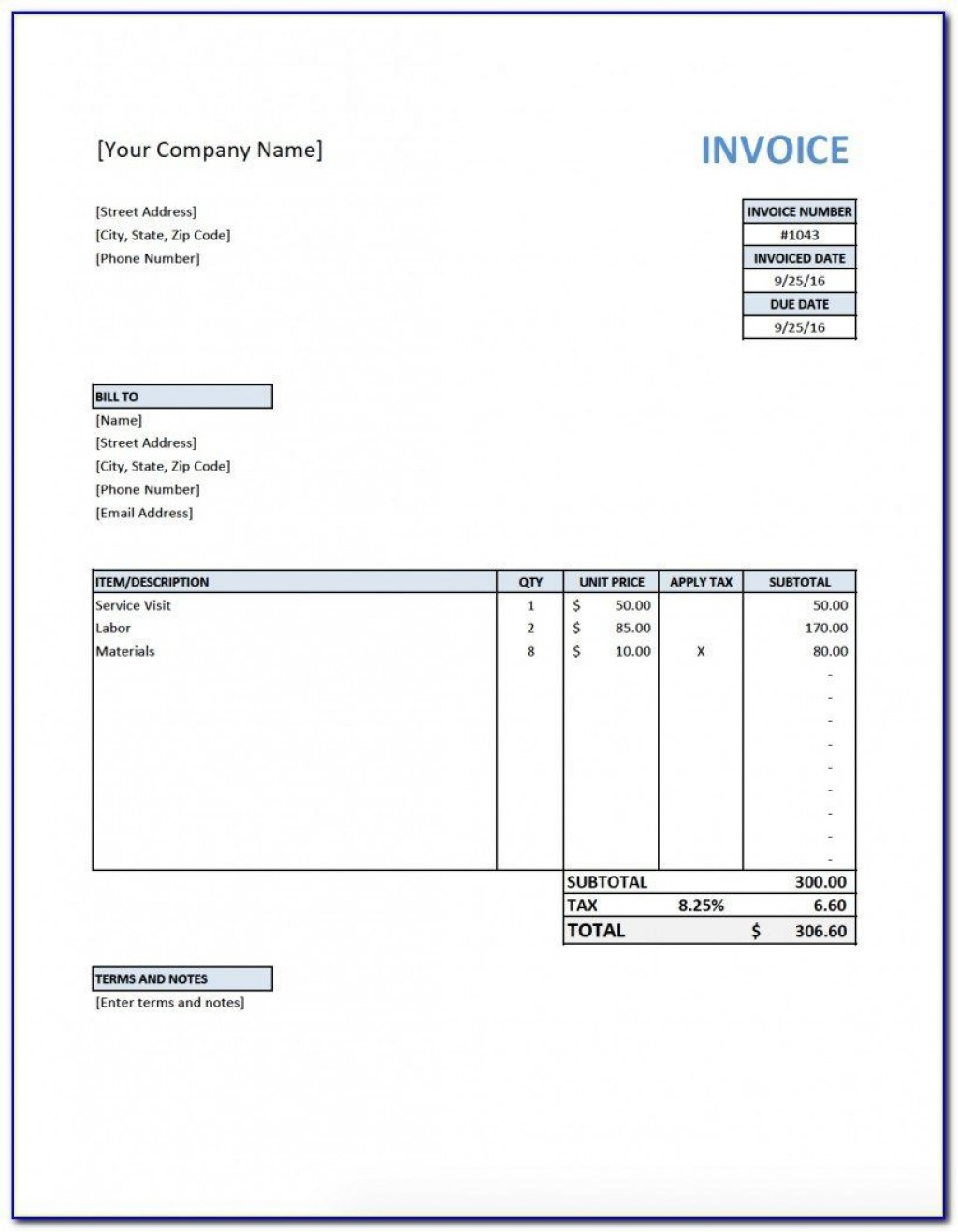 005 Stirring Free Printable Invoice Template Nz Highest Quality Large