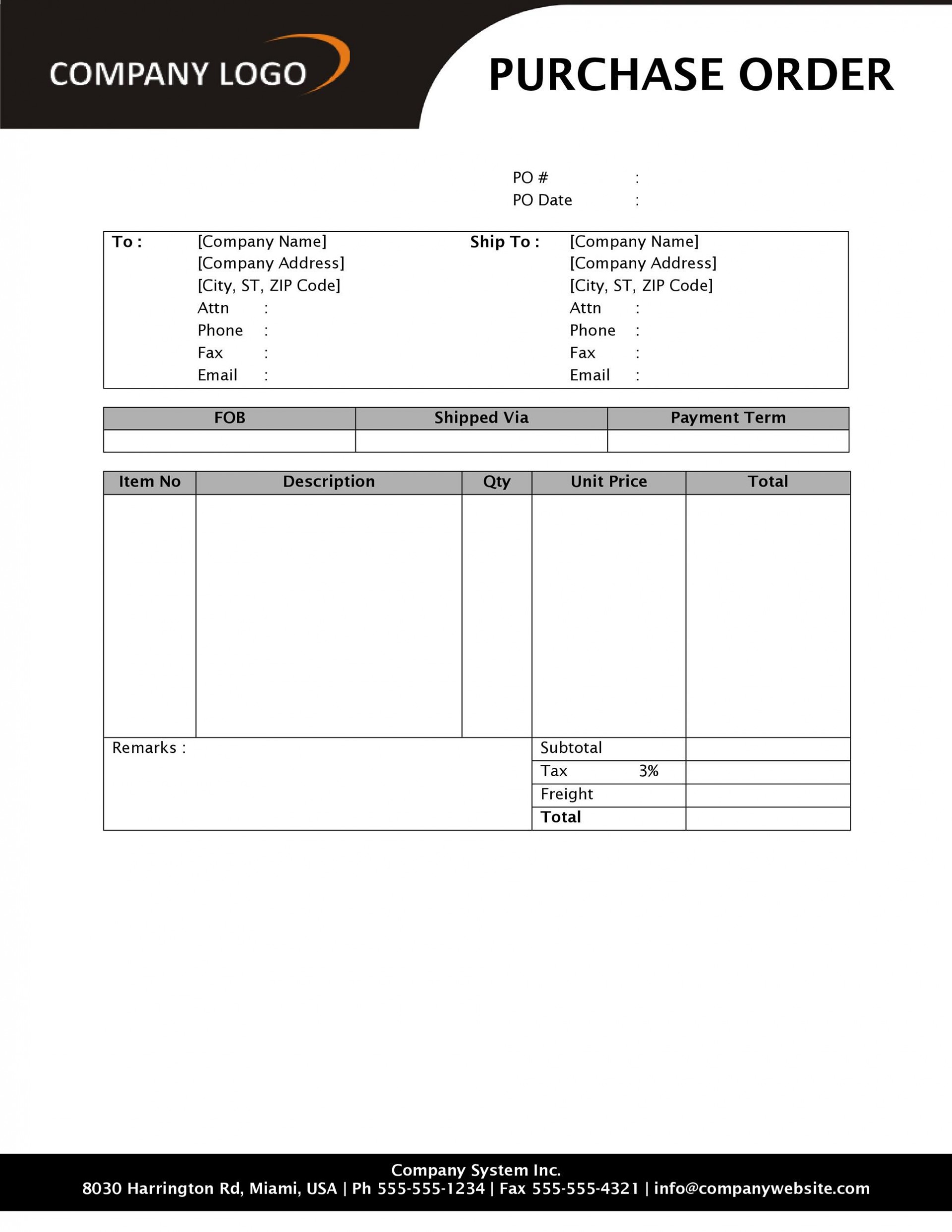 005 Stirring Free Purchase Order Template Word Picture  Microsoft Download1920