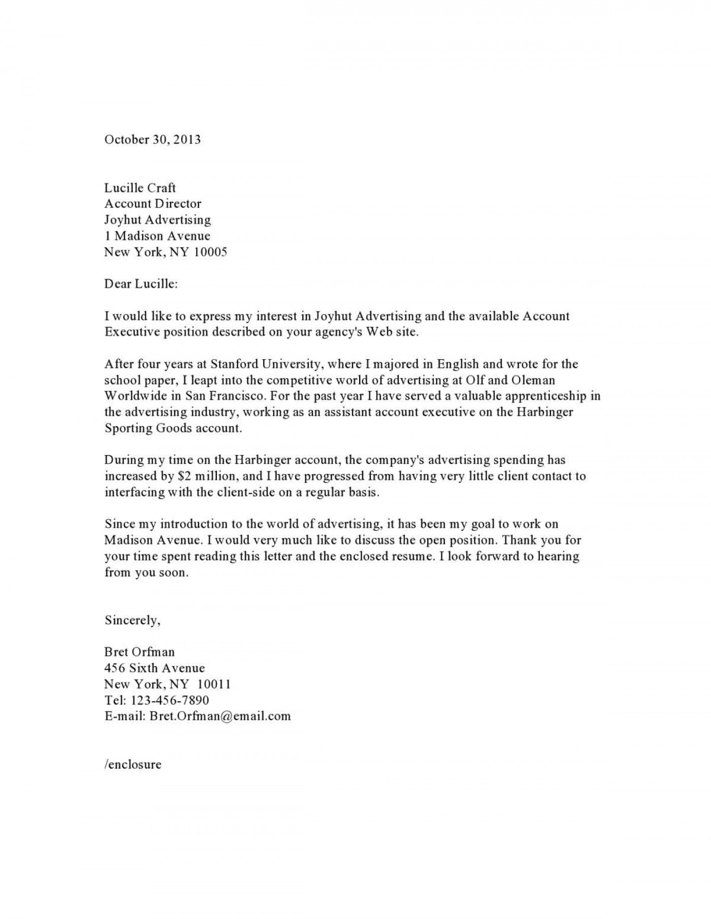 005 Stirring Generic Cover Letter For Resume High Resolution  General Example1400