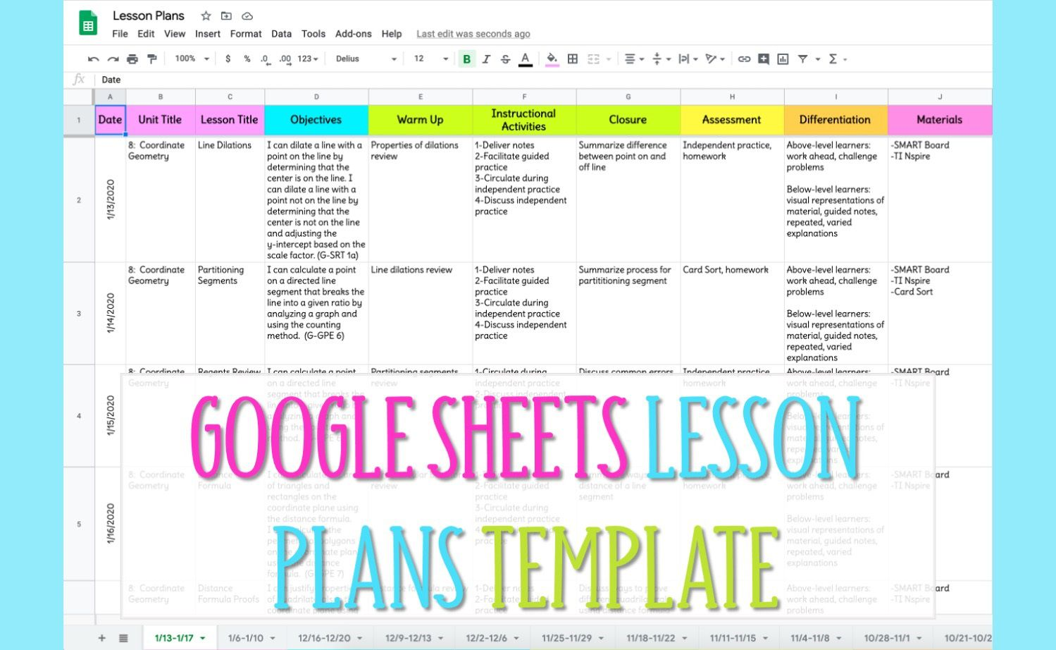 005 Stirring Lesson Plan Template Google Doc Picture  Docs Danielson Siop High SchoolFull