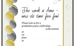 005 Stirring Microsoft Word Graduation Party Invitation Template High Resolution