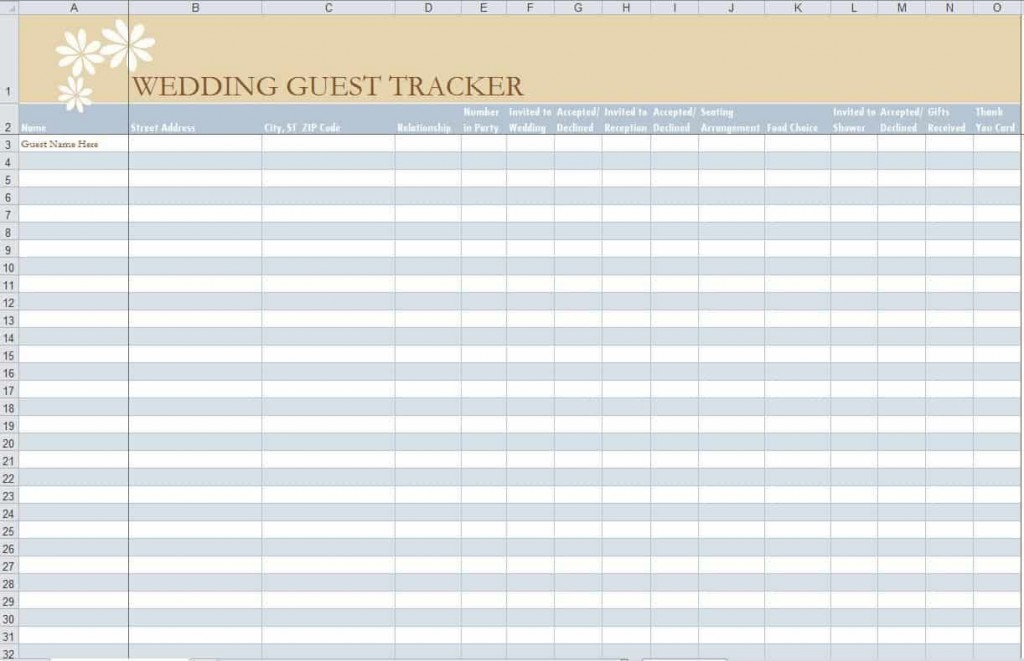 005 Stirring Party Guest List Template Excel Free High Definition Large