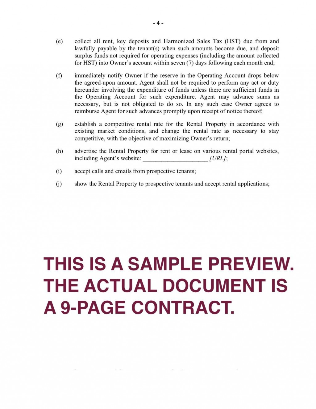 005 Stirring Property Management Contract Template Ontario Design Large