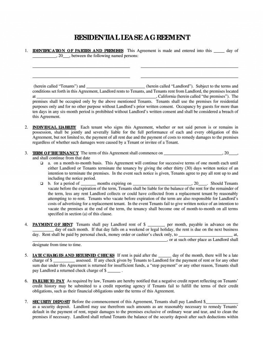 005 Stirring Rental Agreement Template Pdf Picture  Tenancy Uk Rent Contract FormLarge