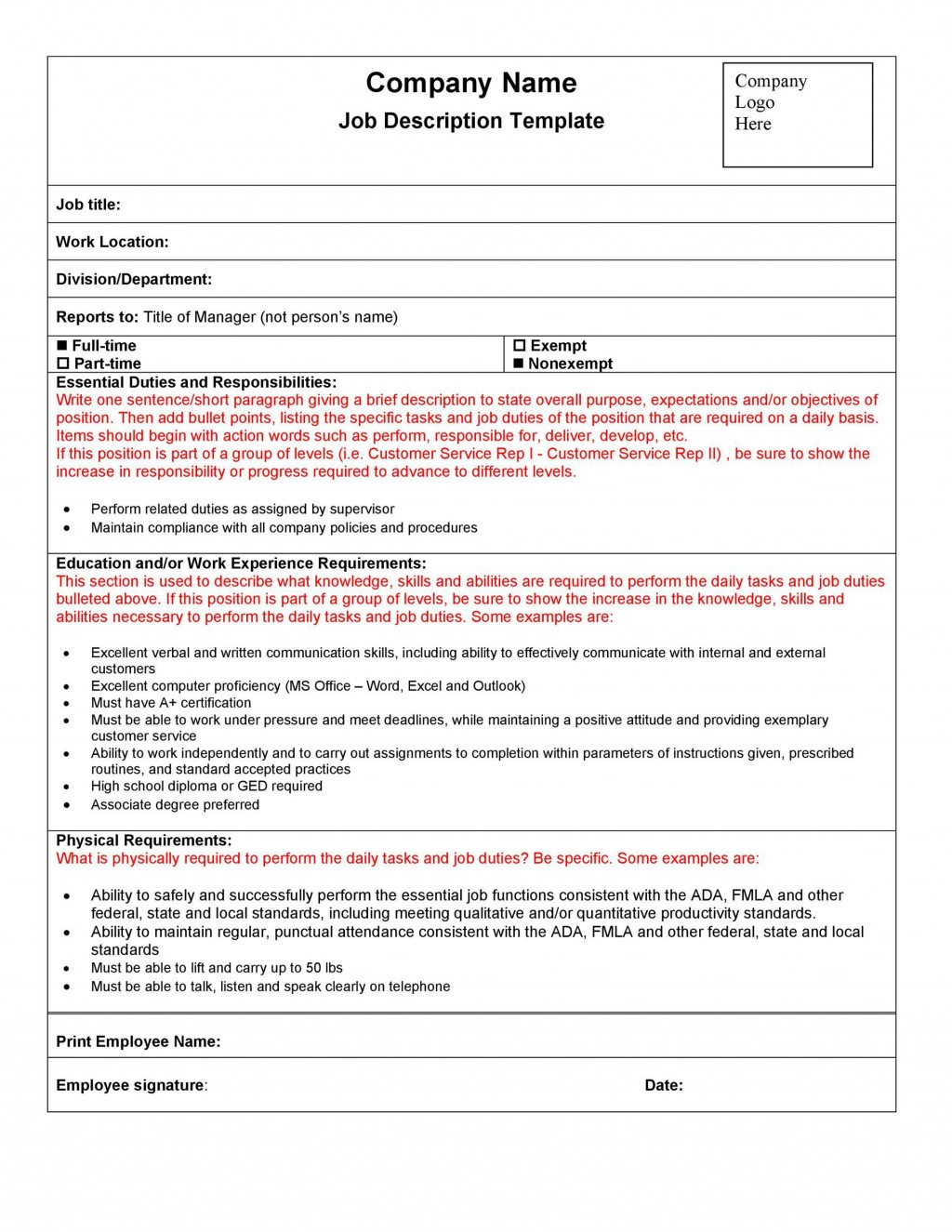 005 Stirring Role And Responsibilitie Template Doc Highest Quality  GoogleLarge
