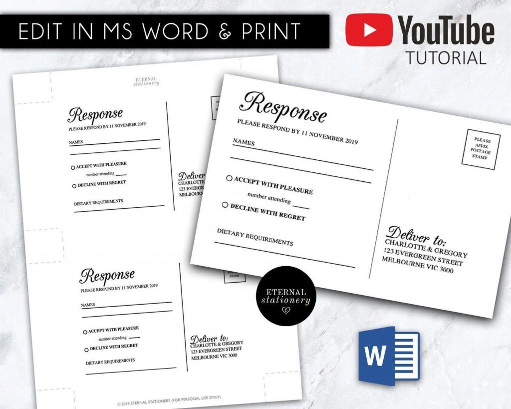 005 Stirring Rsvp Postcard Template For Word Concept Large