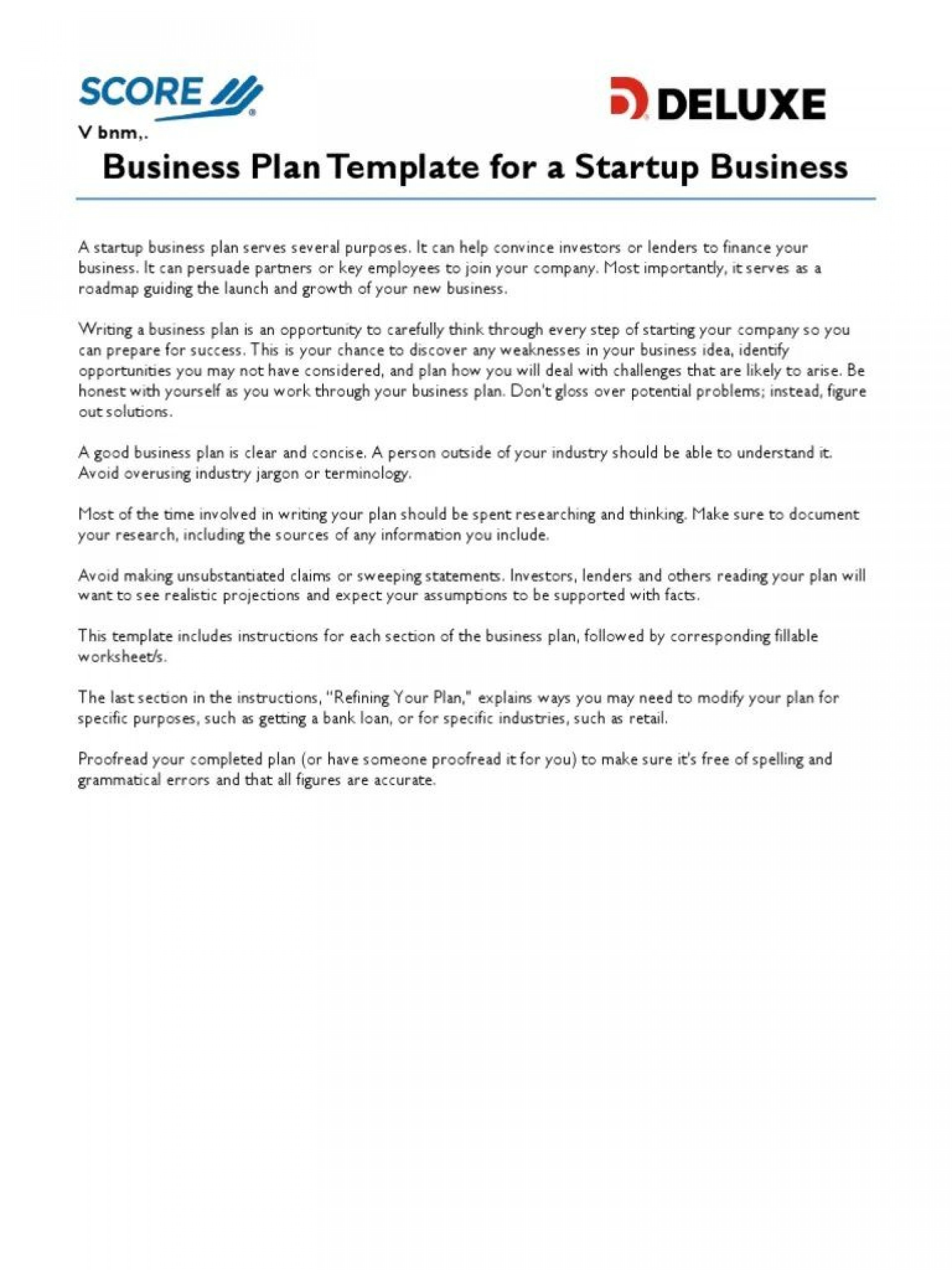Score Business Plan Templates Addictionary