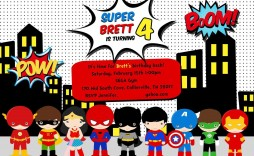 005 Stirring Superhero Birthday Invitation Template Free Highest Clarity