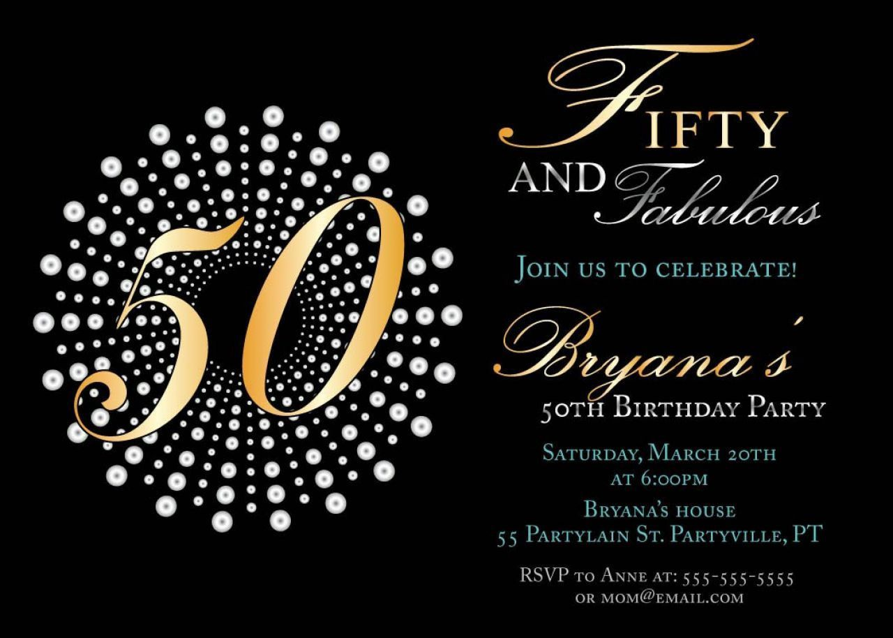 005 Stirring Surprise 50th Birthday Invitation Template Word Free Example Full