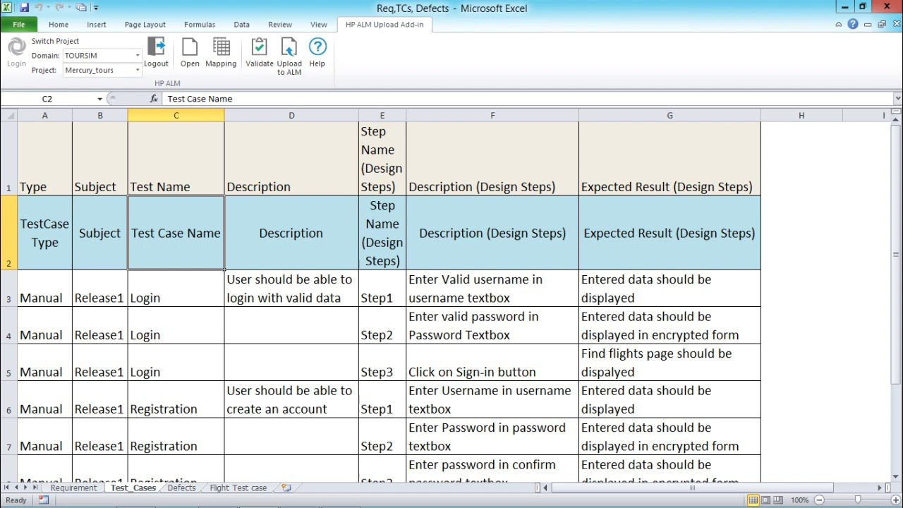 005 Stirring Test Case Template Xl Sample  Xls Excel Sheet FunctionalFull