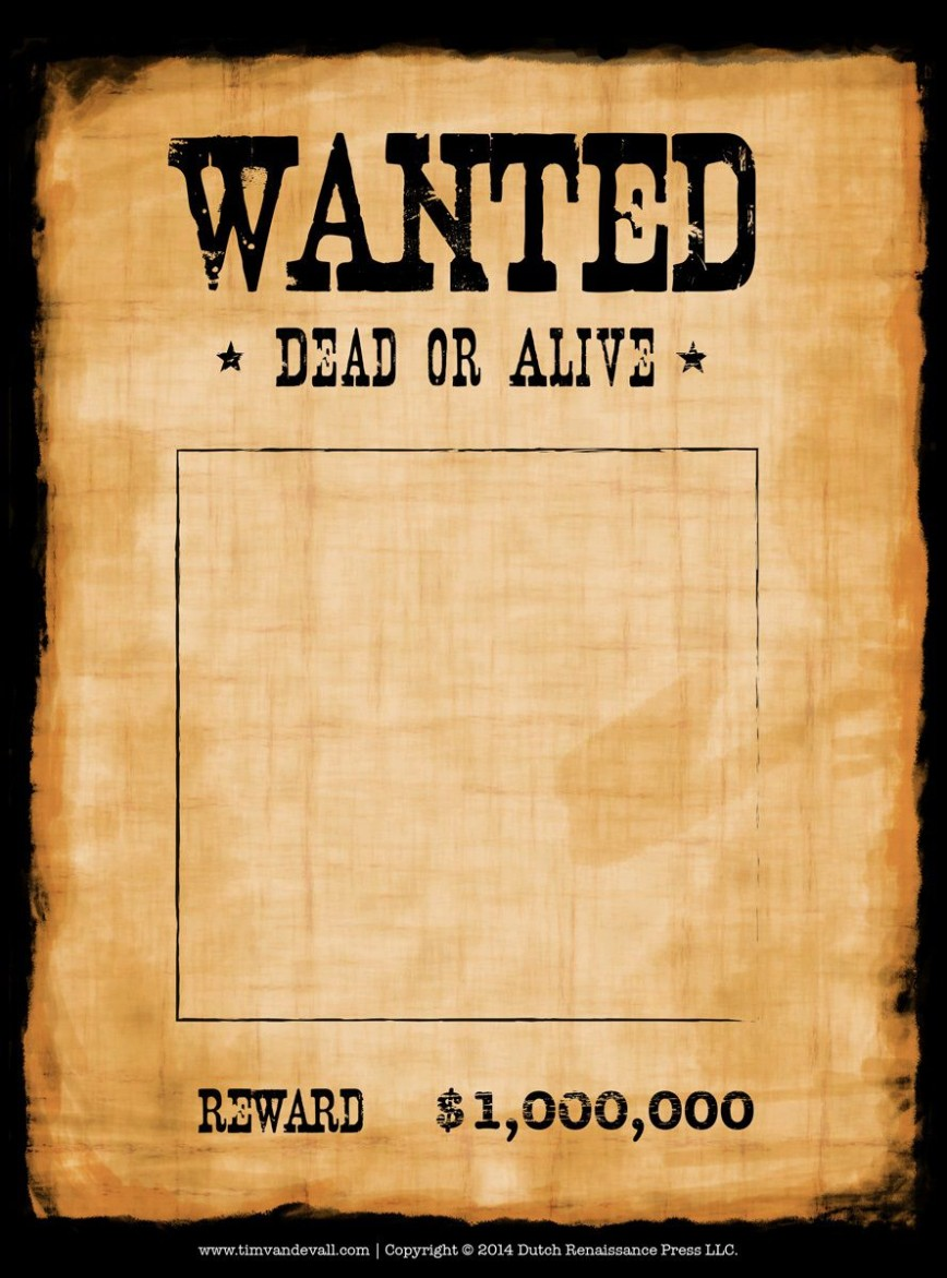 005 Stirring Wanted Poster Template Microsoft Word High Definition  Western Most868