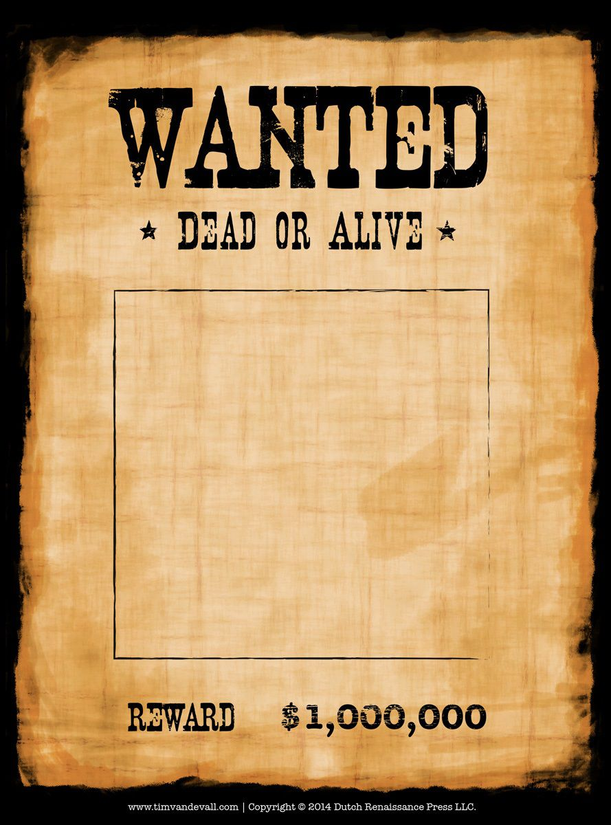 005 Stirring Wanted Poster Template Microsoft Word High Definition  Western MostFull