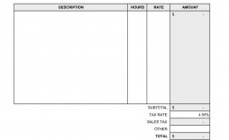 005 Striking Blank Invoice Template Excel Inspiration  Free Download Receipt