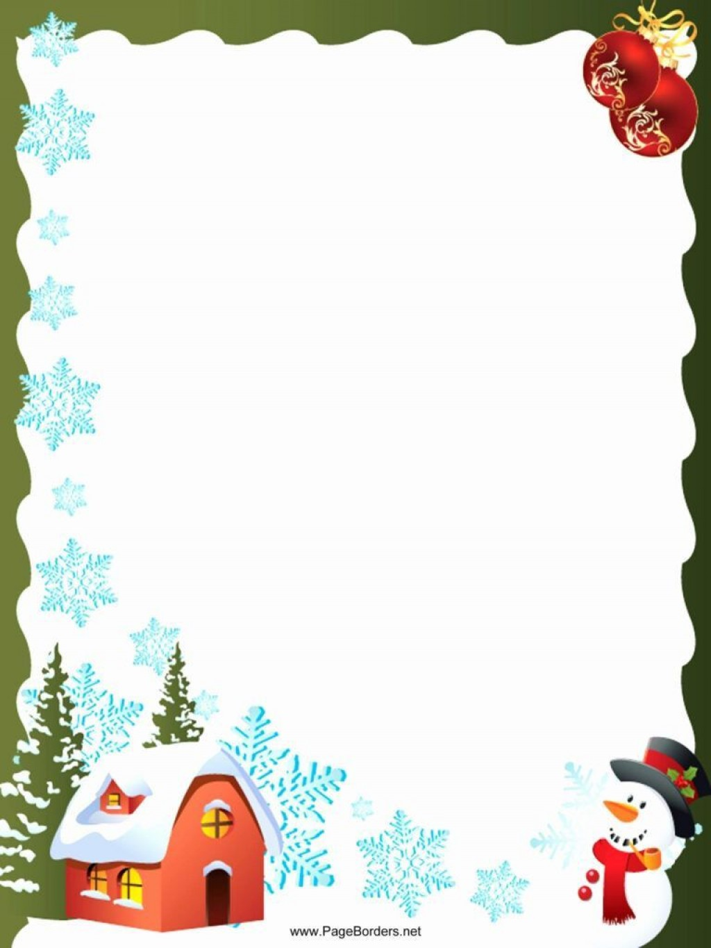 005 Striking Christma Stationery Template Microsoft Word Idea  FreeLarge