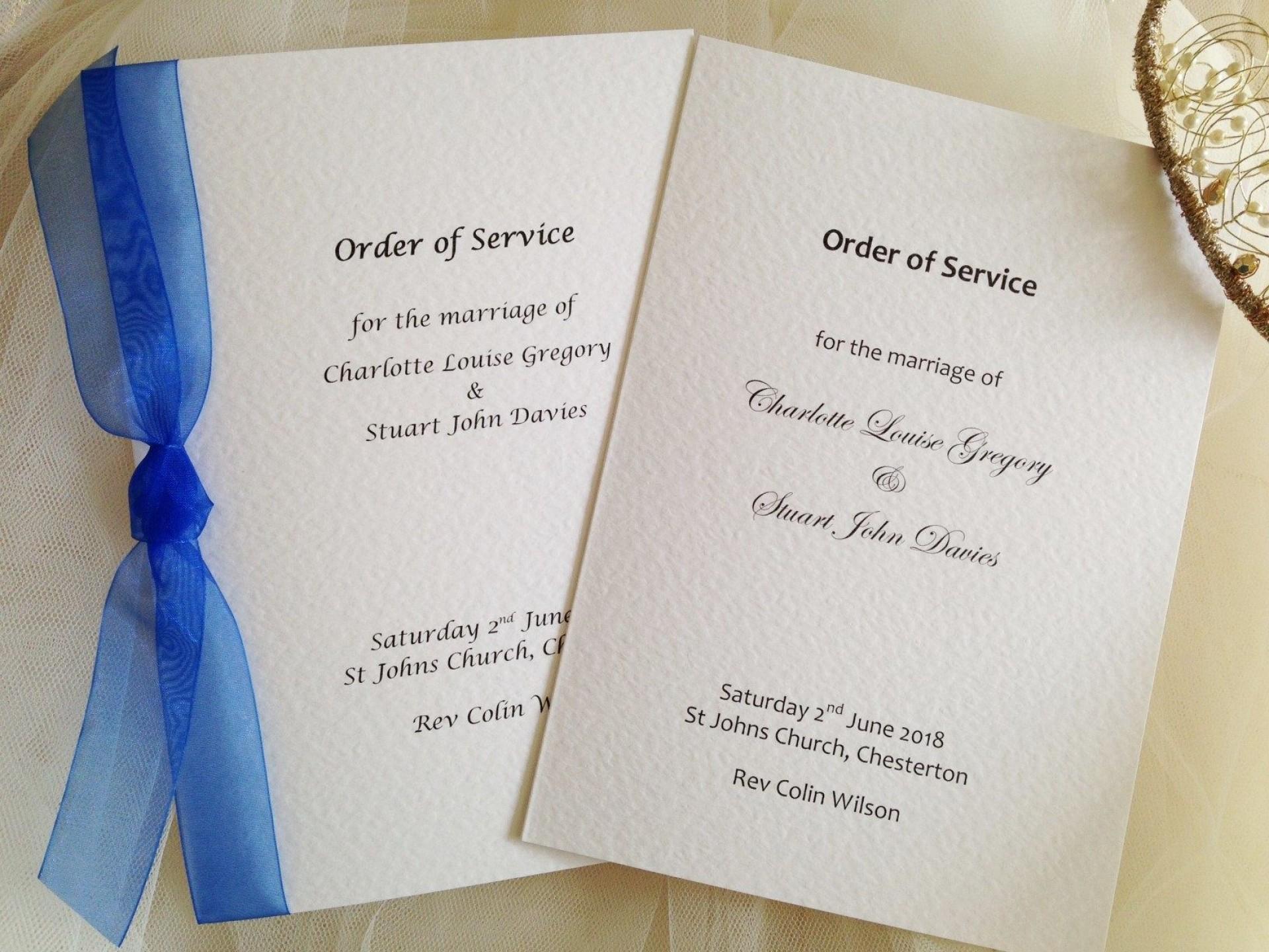 005 Striking Church Wedding Order Of Service Template Uk Highest Quality 1920