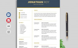 005 Striking Creative Resume Template Word Picture  Professional Free Download Example Editable