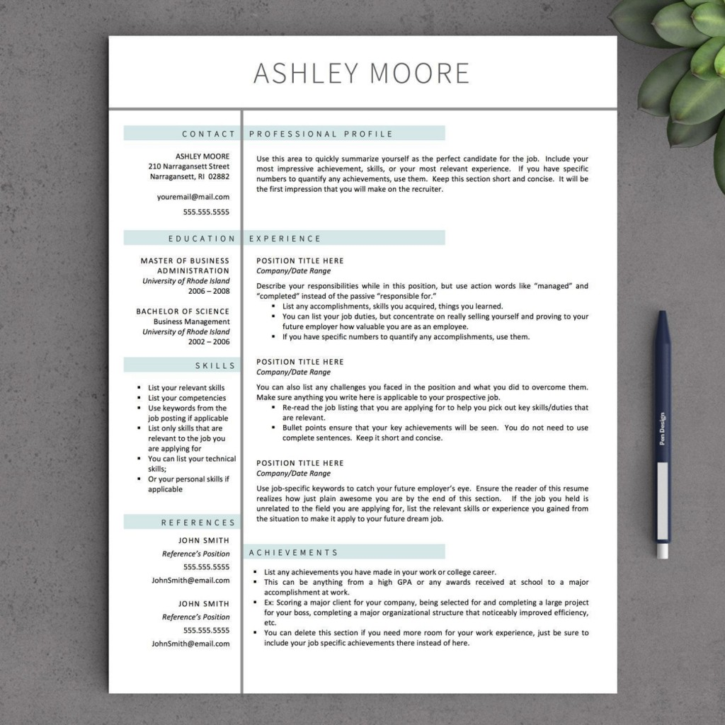 005 Striking Download Free Resume Template For Mac Page High Resolution  PagesLarge