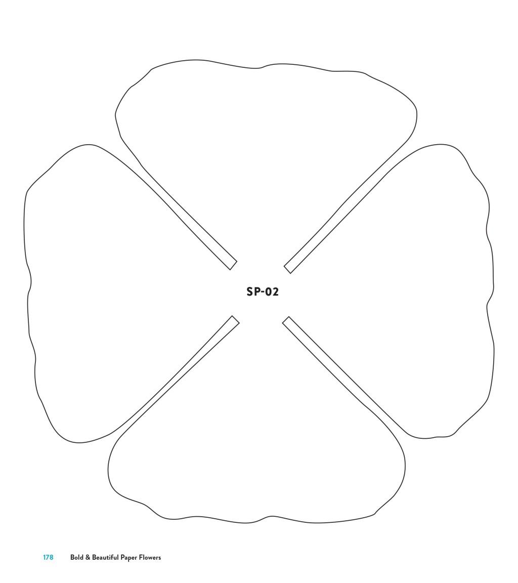 005 Striking Downloadable Free Printable Paper Flower Template Sample  TemplatesLarge