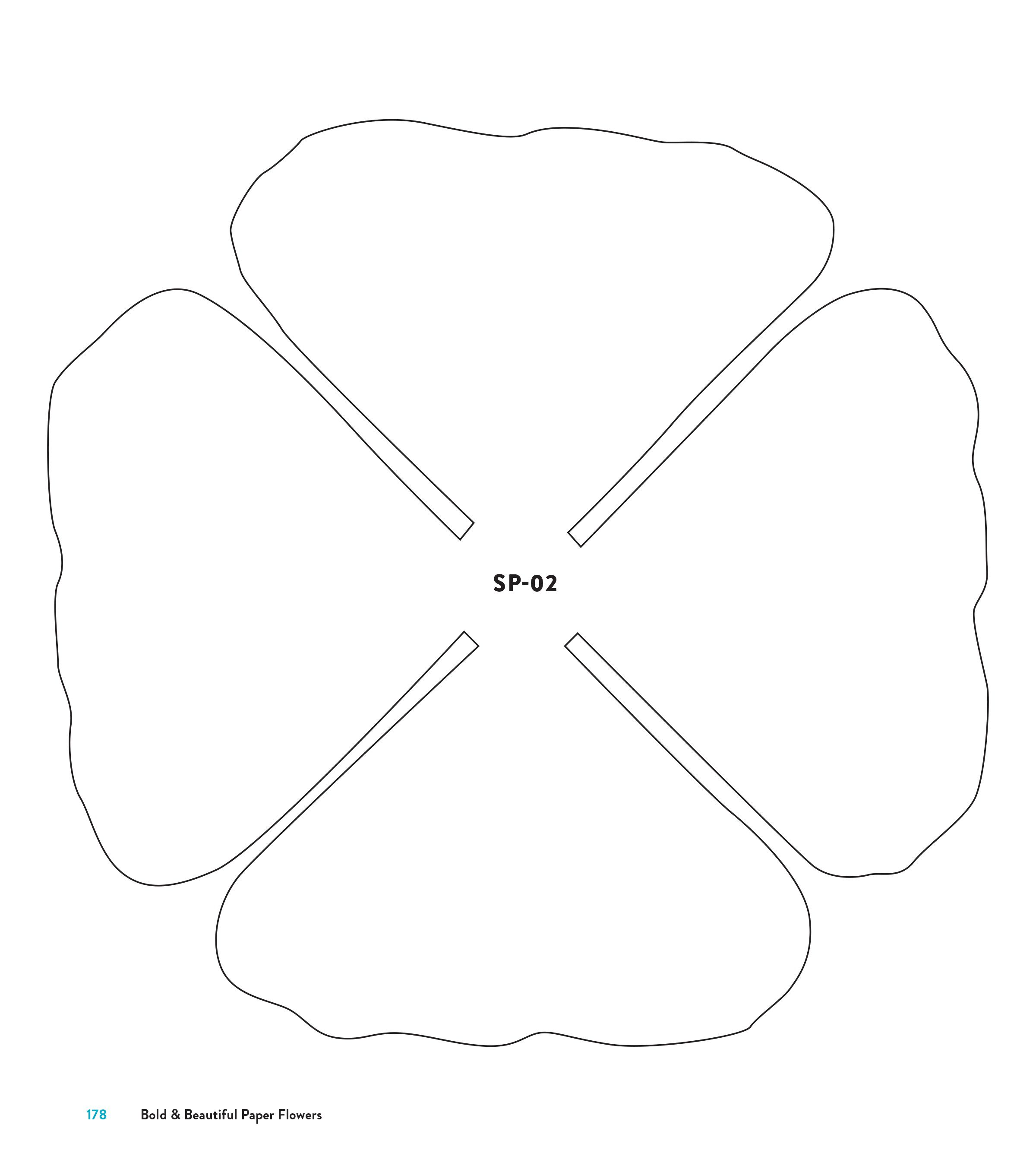 005 Striking Downloadable Free Printable Paper Flower Template Sample  TemplatesFull