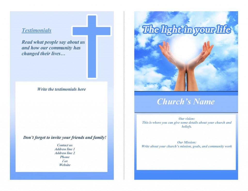005 Striking Free Church Program Template Download Concept  DownloadsLarge
