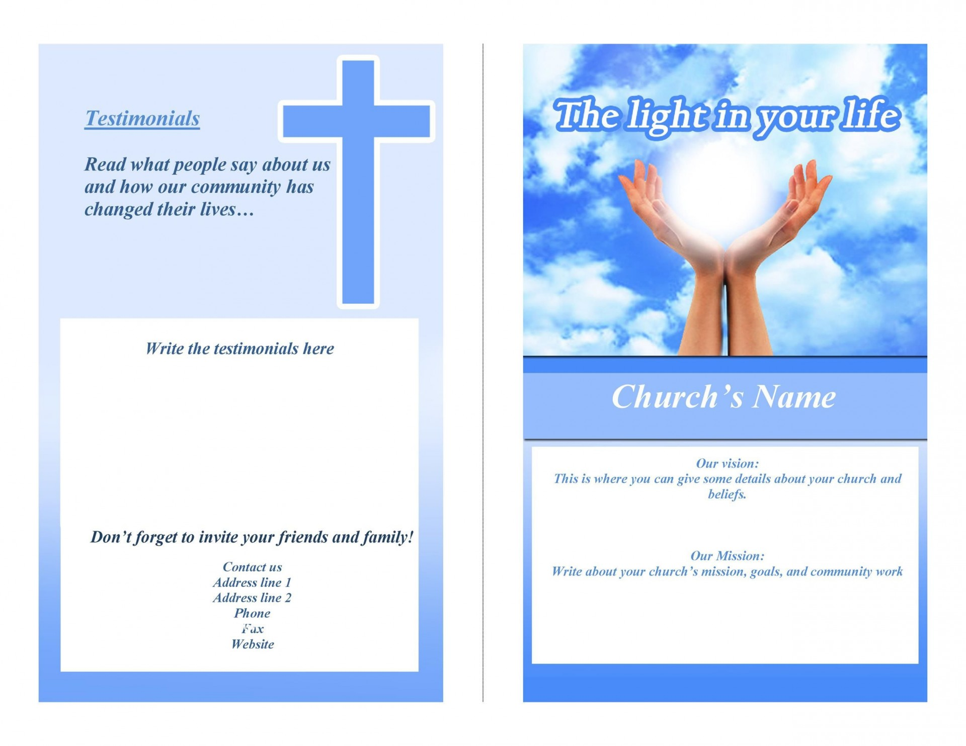 005 Striking Free Church Program Template Download Concept  Downloads1920