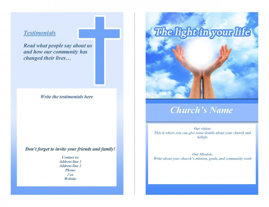 005 Striking Free Church Program Template Download Concept  Downloads