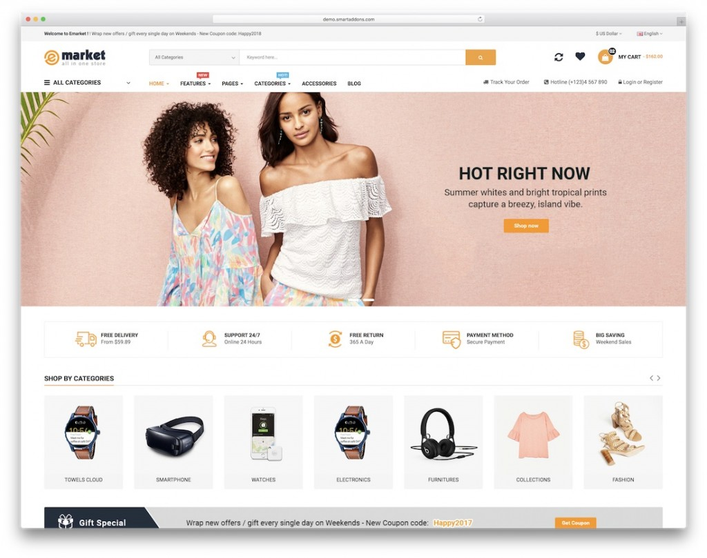 005 Striking Free E Commerce Website Template High Def  Ecommerce Html Cs Bootstrap PhpLarge